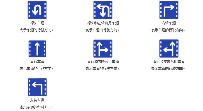 车道行驶方向标志