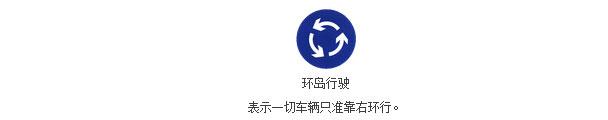 环岛行驶标志