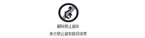 解除禁止超车标志