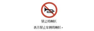 禁止鸣喇叭标志