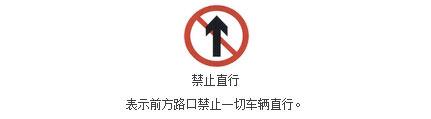 禁止直行标志