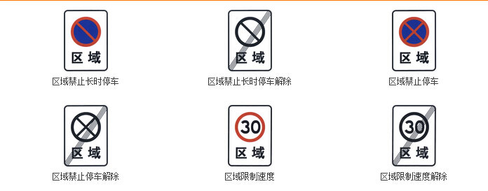 区域禁止及解除标志