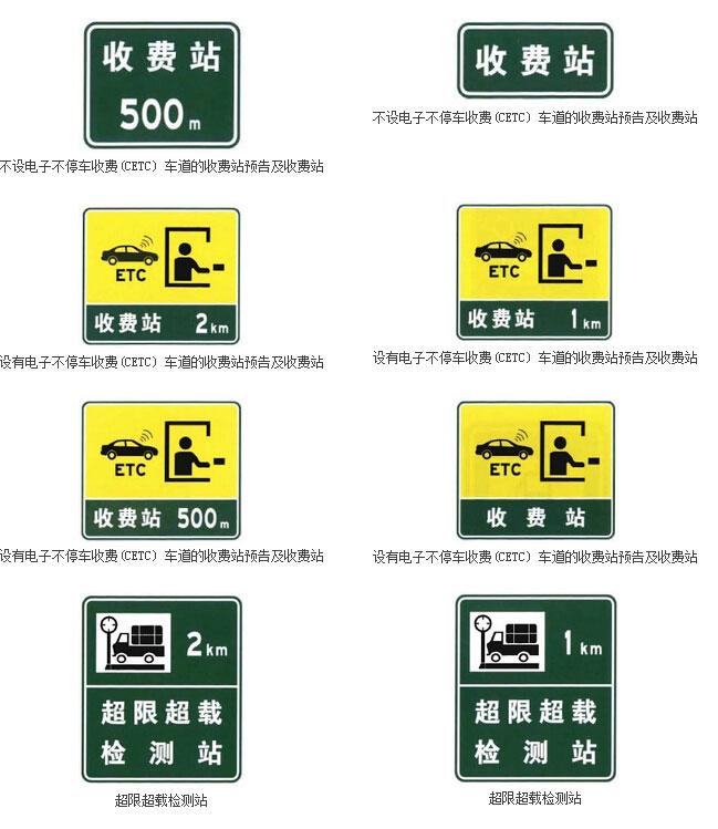 沿线设施指引标志二