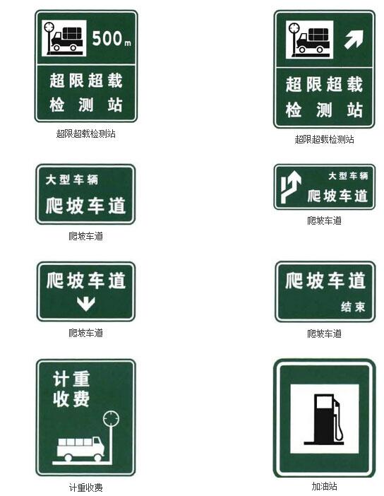 沿线设施指引标志三