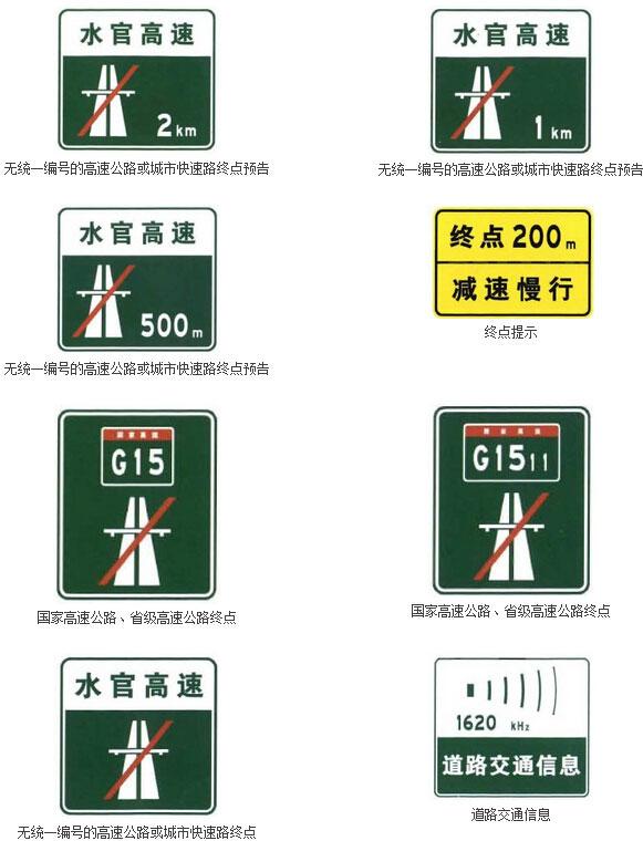 沿线信息指引标志二