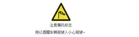注意横风标志