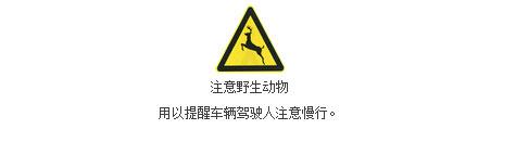 注意野生动物标志
