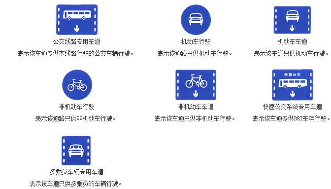 专用道路和车道标志