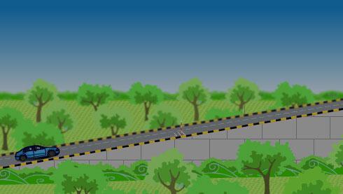 科目二五项考试之路考动态模拟之坡道定点停车和起步(flash示范)