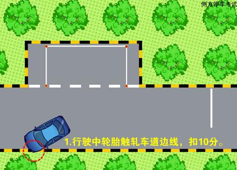 科目二五项考试之路考动态模拟之侧方停车(flash示范)