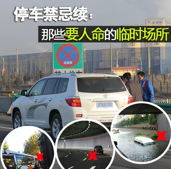 哪些地方不能停车? 高速公路乱停放车就是找死