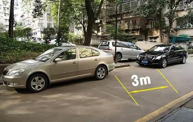 车头边缘与前车保险杠下缘重合大概是3米-(2)